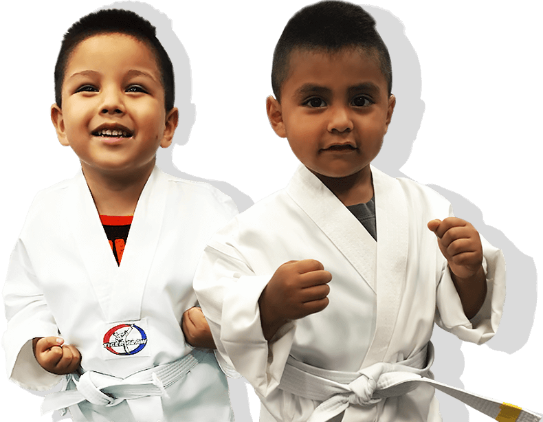 young kids happy - karate